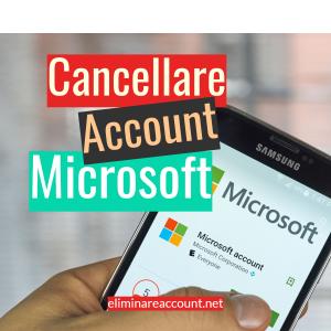 Cancellare Account Microsoft