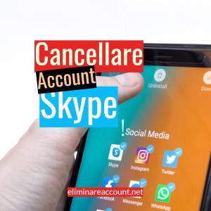 Cancellare Account Skype