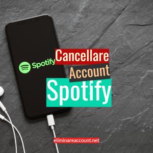 Cancellare Account Spotify