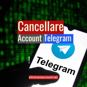 Cancellare Account Telegram