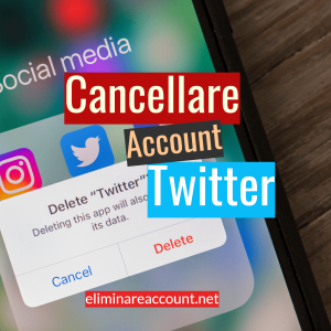 Cancellare Account Twitter