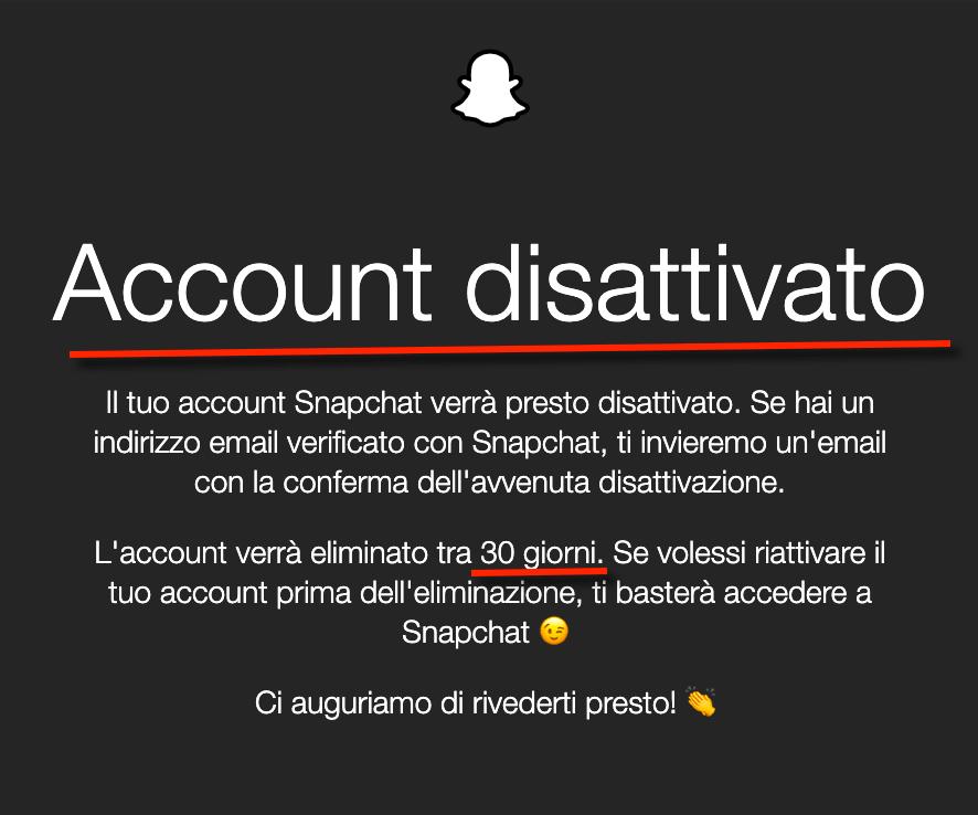Come Cancellare Account Snapchat