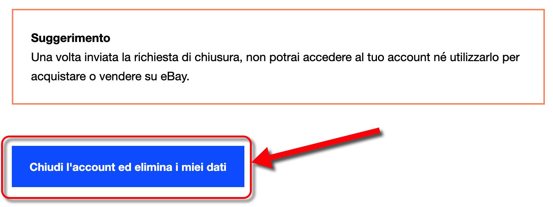 Eliminare Account Ebay